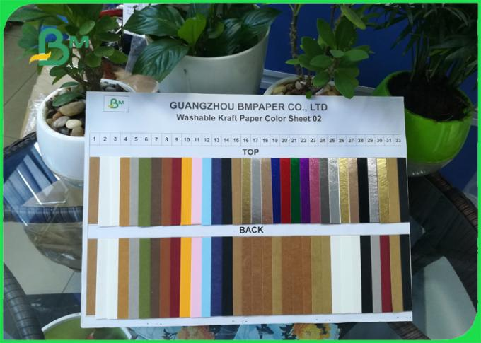 0.5mm Washable Gold / Blue / Red / Black / White / Silver Color Kraft Paper