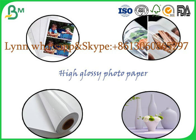 Wood Pulp Material High Glossy Photo Paper For Making Printing