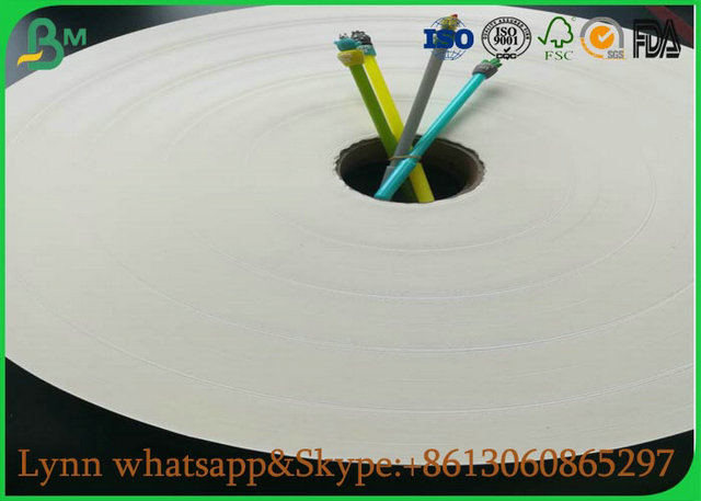 Natural Material Of White Food Grade Paper Roll With The Straw Roll Paper