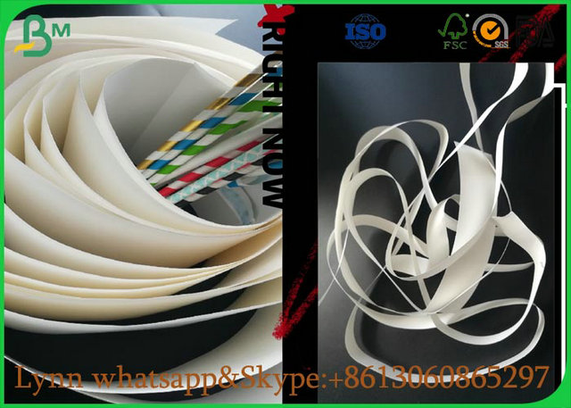 September White Food Grade Paper Roll With The Straw Pipe Paper