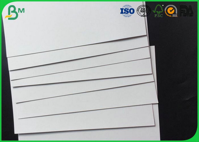 400 - 1000g Laminated Grey Board , Coated Double Side Art Glossy Paper For Making High - End Gift Box