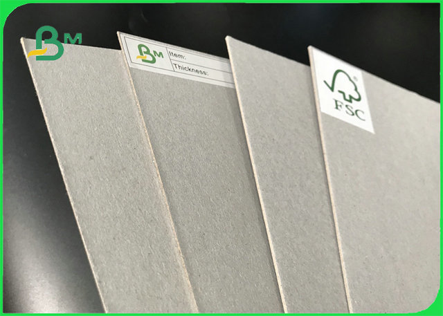 Anti-Curl Grey Paper Board Grey Laminated Chipboard For Sale With FSC Reporting