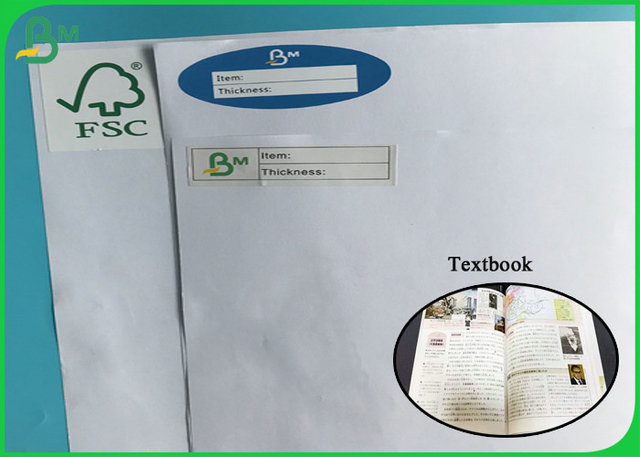 Good printing 80G Uncoated Woodfree Paper FSC Certficate Book Paper  / Bond Paper
