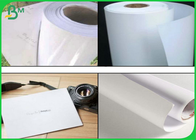 Different Gsm One Side Glossy Art Paper / Inkjet Matte Waterproof Photo Paper