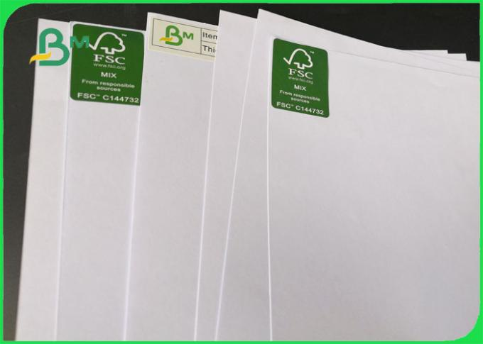 FSC Certified Offset Printing 70GSM White Bond Paper / Writing Paper For Notebook