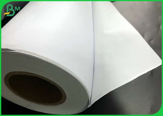 Uncoated High Whiteness Roll Cutting Plotter Paper For Advantising Material