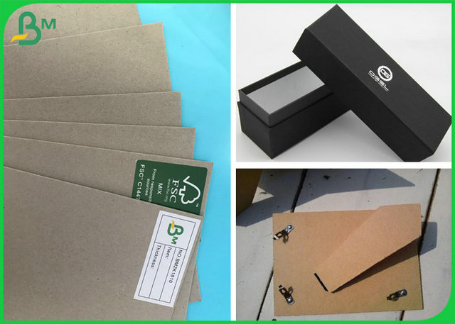 100% Recycled Grey Chipboard 1mm 1.8mm Grey Carton Board For Making Folder