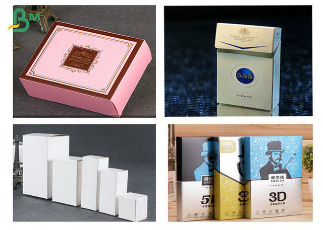 Virgin Natural Material Style White Ivory Board Paper For Making Cigarette Boxes