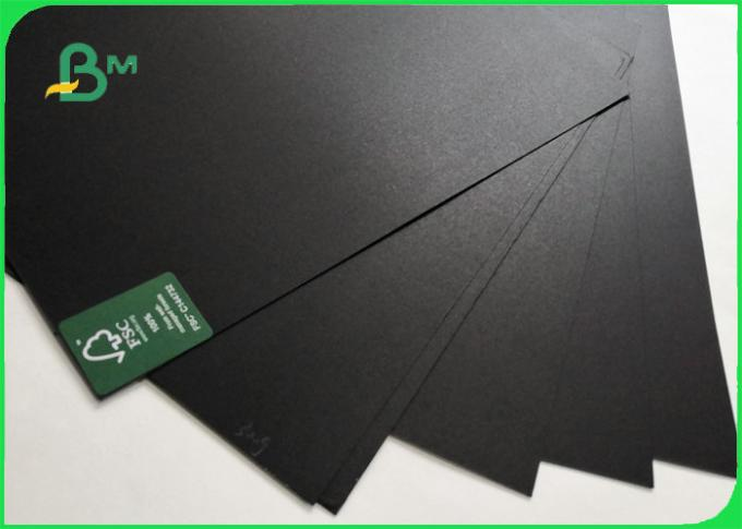 FSC Certified 100% wood pulp Hard Stiffness Black Chipboard Sheet 250gsm 300gsm