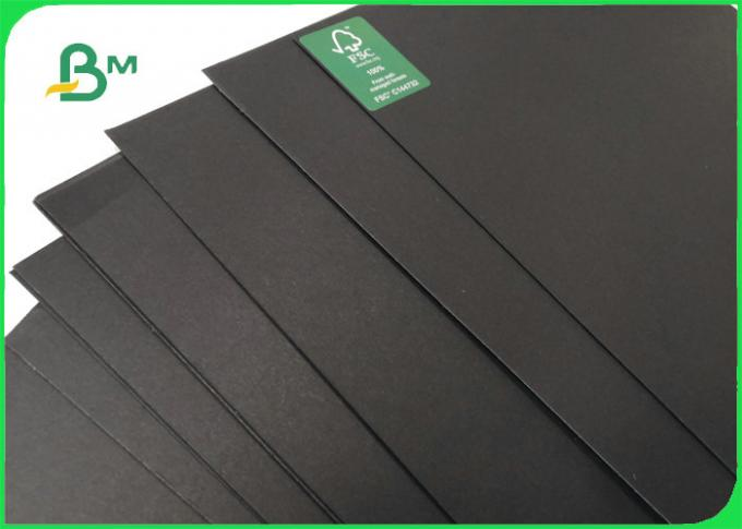 1mm thick Smooth Face Laminated Black Card Board For Envelopes 300GSM 350GSM