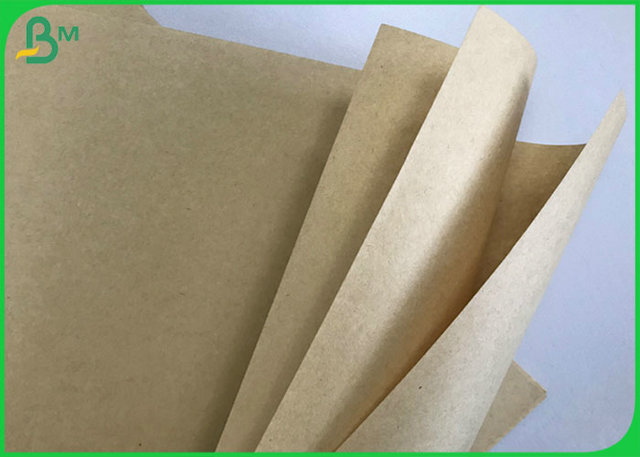FSC 80G 95G 100G 110G Unbleached Brown Kraft Paper Roll With Recycled Pulp