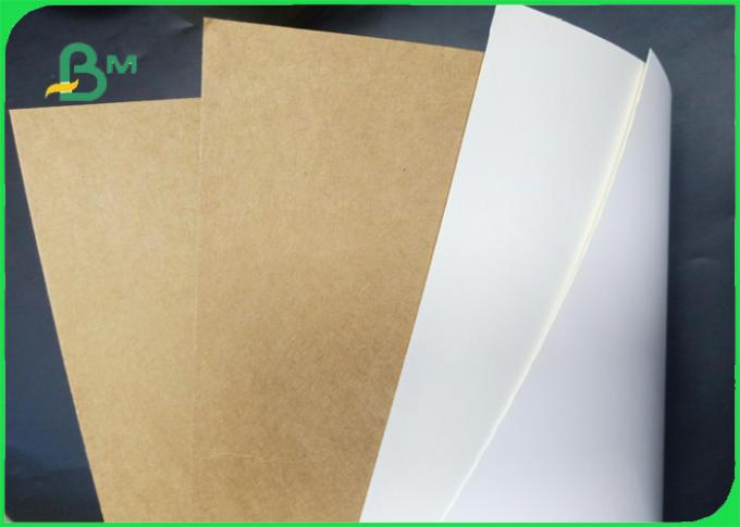 FDA Approved Smooth Surface 250 - 350g White / Brown Krft Paper For Food Packing
