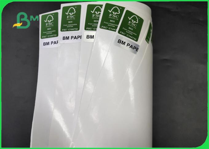 Thickness 30 - 350gsm PE Coated White Color Kraft Paper In Coils For Various Packing
