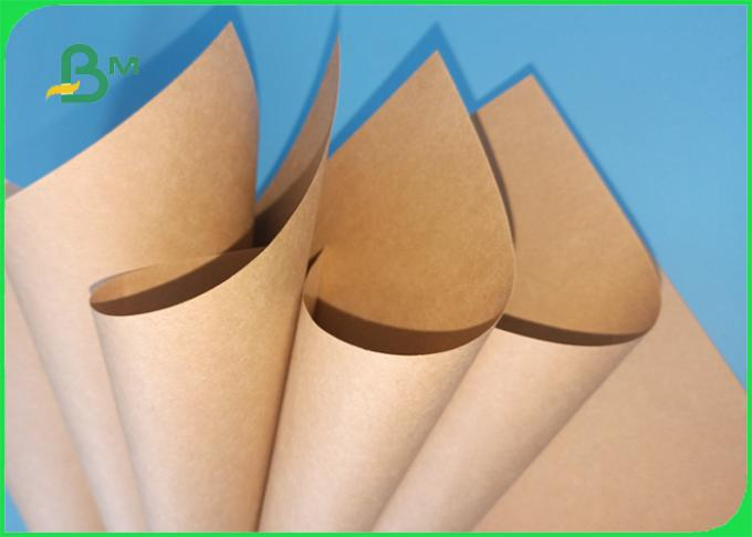 FDA Approved 100% Wood Pulp 40gsm - 80gsm Brown Kraft Liner Paper For Packing