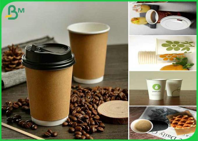 Great Stiffness 160gsm+10gsm PE White Cup Paper Roll For Making Coffee Cup