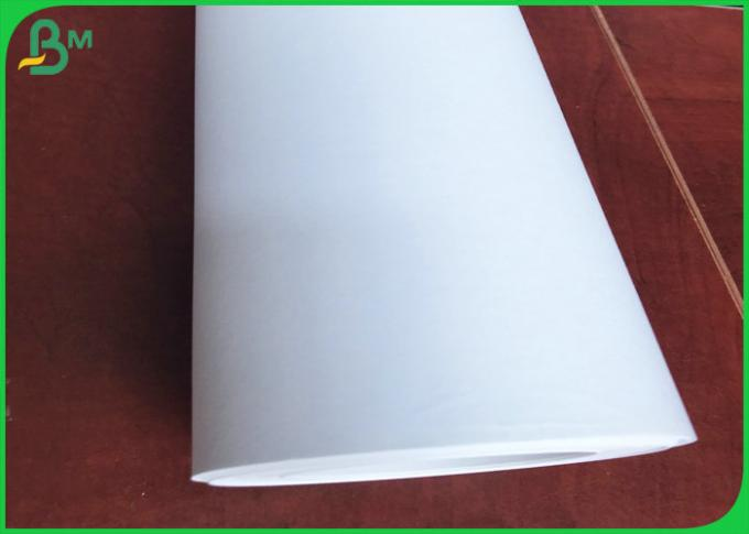 Good Strength 80gsm White Inkjet Plotter Paper Roll For Garment Cutting System
