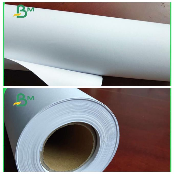 80GRAM Inkjet Plotter Paper In Rolls Roll Core 3inch / 5inch For Designing