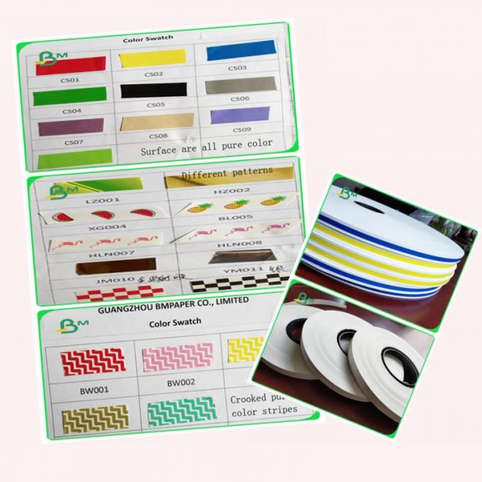 FDA FSC Color Printed Food Grade Paper / Straw Drinking Paper 15mm to 600mm