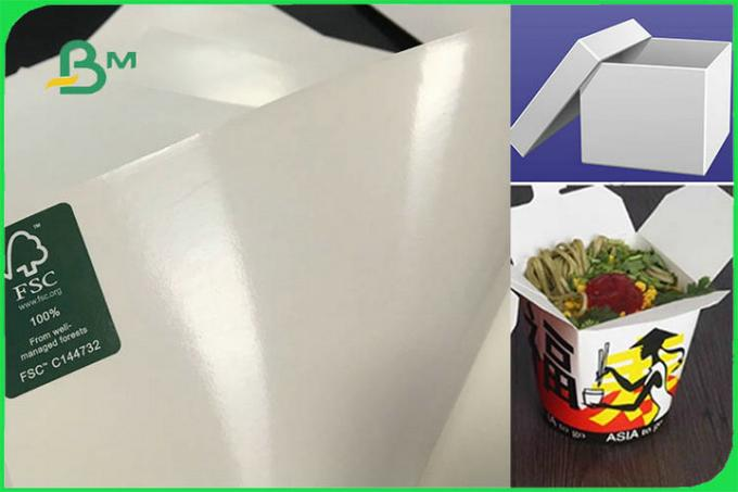 FSC FDA  White Food Safe FBB Board 15g PE Coated Paper For Cup Making Custom	http://www.bmpaper.com/products.html