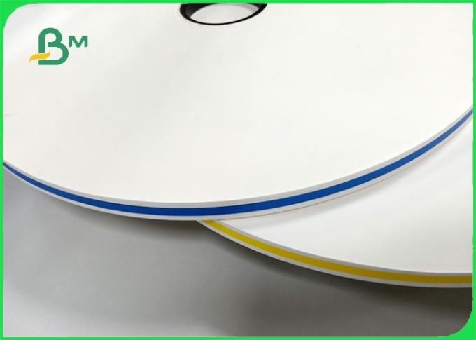 60gsm stripe printing colored straw paper Degradability in roll diameter 55cm