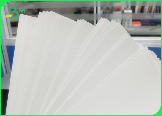 Tear Resistant Polyethylene PE Coated Paper For Adhesive Sticker Waterproof
