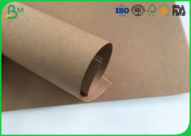 Grade AAA Kraft Brown Paper Roll , Test Liner Paper For Making Corrugated Box