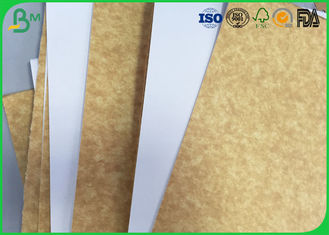 100% Virgin Pulp Brown Kraft Paper , 200gsm 250gsm 300gsm White Top Kraft Liner Board