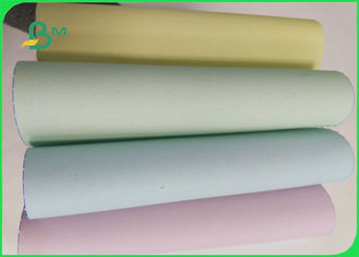 55 / 50 / 55 Gsm Offset Printing Copier Paper Rolls , Ncr 5 Colored Paper Jumbo Roll