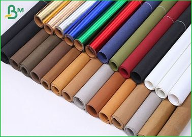 Tearproof Washable Colored Kraft Paper Roll Packing Double Smooth Side