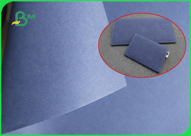 Blue Fabric Washable Kraft Liner Paper 0.55mm thickness for Wallets making