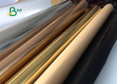 China Natually Degradable Rio Red + Gold Washable Kraft Paper Fabric For Plant Bag supplier