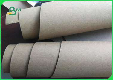Natural Fabric High Strength Washable Kraft Paper Rolls For Shopping Bags