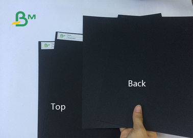 High Grade 250gsm 300gsm 350gsm Thickness Coated Black Paper For Packing Box