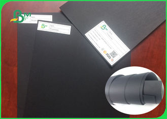 China 300g 350g 400g Double side black color Black paperboard For Box Packing supplier