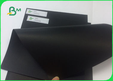 100% Wood Pulp Laminated Solid Black Cardboard For Hard Book Cover