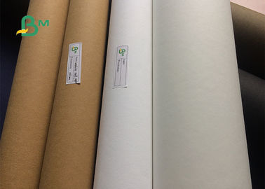 0.55mm Thickness Multi Color Natural Washable Kraft Paper Fabric For Tote Bag