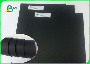 Shiny Black Paper / 1mm Black Cardboard Paper Sheet For Packaging