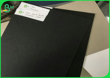 China 250gsm - 3mm Both Side Smooth Black Paper Board For Large Cardboard Boxes supplier