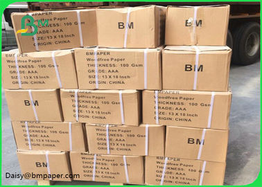 China Uncoated Woodfree Paper / Uncoated Offset Printing Paper 100% Virgin Pulp Material supplier