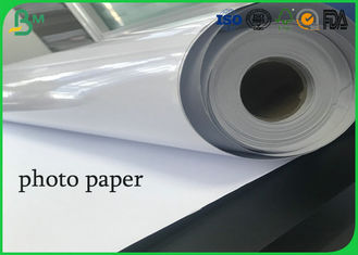 Roll 24inch 36inch absorb printing ink one side  high glossy photo paper