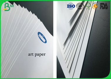 80g To 400g Two Sides Coated Roll White Glossy Art Paper In Large Size