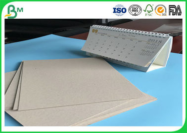 China High Density 600g - 1800g Laminated Grey Board / Two Sides Uncoted Straw Board Rolls For Office Calendar supplier