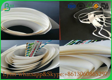 China Natural Material Of White Food Grade Paper Roll With The Straw Roll Paper supplier