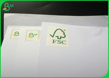 100% Natural Wood Pulp Glossy Coated Paper / FSC Certified 70g Uncoated Woodfree Paper