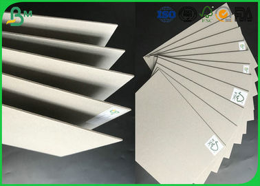 Strong Stiffness Recycled Mixed Pulp 1.5mm - 2.5mm Laminated Grey Board For Folder Book Binding