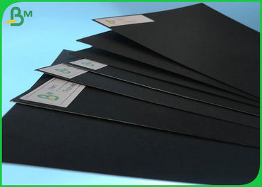 China 200g 250g Coated High Stiffness Book Binding Board / FSC Certificate Black Cardboard In Sheet supplier