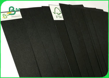 FSC Certified 100% Virgin Pulp Solid 350gsm Black Kraft Paper For Packing