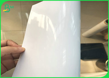 36 Inch 24 Inch * 50m Slef - Adhesive Glossy Matte Coated Waterproof Inkjet Photo Paper Roll For Pigment & Dye Ink