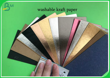 Eco - Friendly Metallized Roll 0.55mm Washable Kraft Paper With 150cm