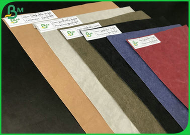 Tear Resistant Eco - Friendly 0.3mm 0.55mm Colorful Washable Kraft Paper For DIY Bags